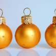Three christmas balls — ストック写真