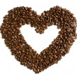 Royalty-Free Stock Photo: Heart from coffee beans
