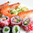 Sushi rolls with shrimps — Stock Photo