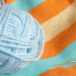 Colourful knitting - Stock Photo