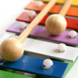 Toy colorful xylophone — Stock Photo