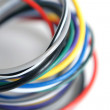 Multicolored computer cable — Stock Photo #1570555