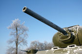 Old Soviet Union tank — Stock Photo
