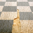 Stock Photo: Old crackled chessboard