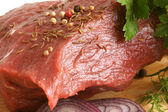 Fresh raw beef meat — Stock Photo