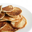 Thick pancakes on plate — Stock Photo