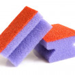 Stock Photo: Red and violet sponges