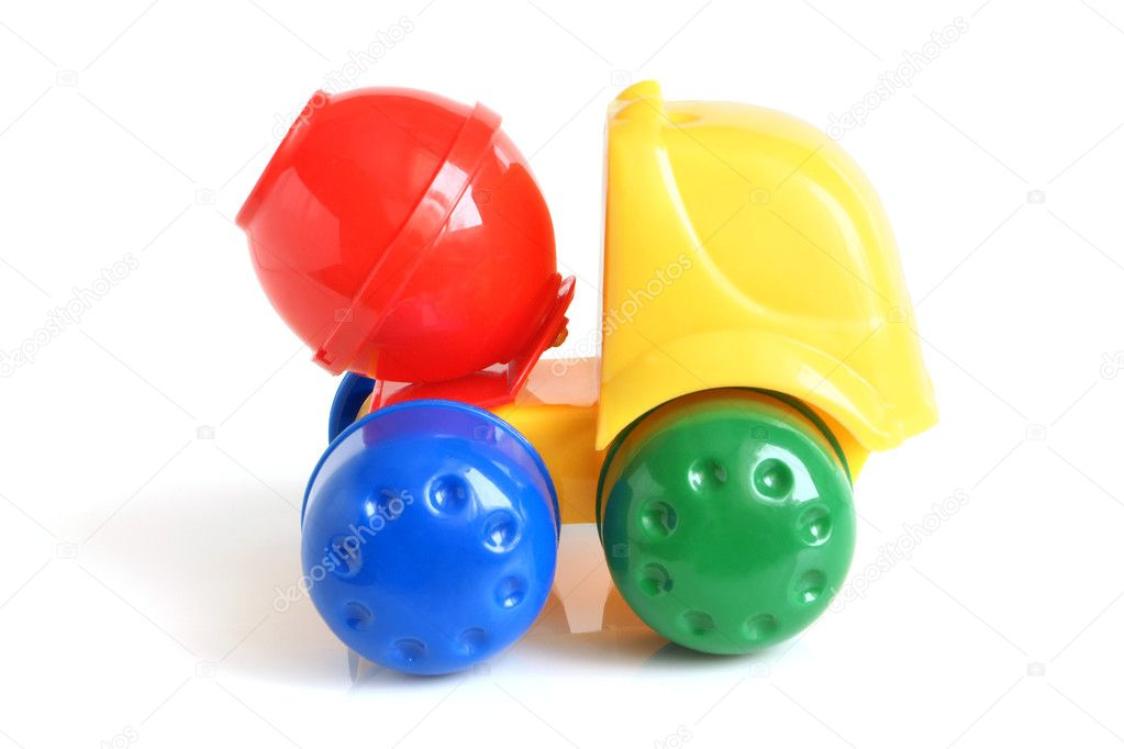 Concrete mixer toy on a white background  Stock Photo #2236383
