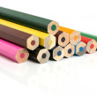 Colored pencils closeup — Foto de Stock