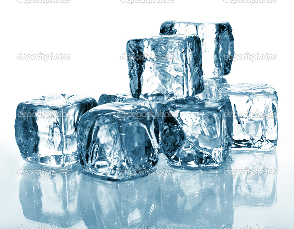 Blue ice cubes — Stock Photo #1206826
