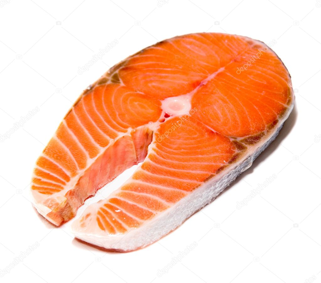 Salmon steak — Stock Photo #1209100