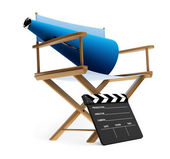 Chair, megaphone and clapboard — Stock Photo