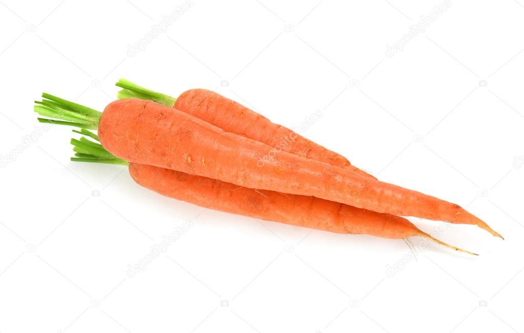 Carrot on white background — Stock Photo #1216605