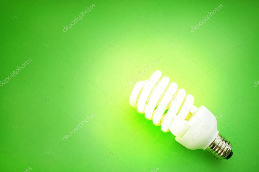 Energy saving light bulb  Foto de Stock   #1292970