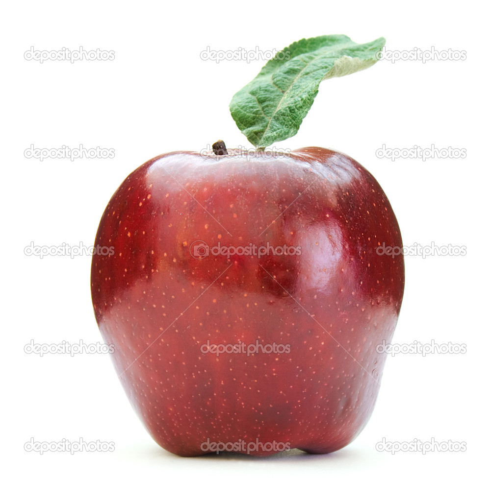 Red apple on white background — Stock Photo #1292985