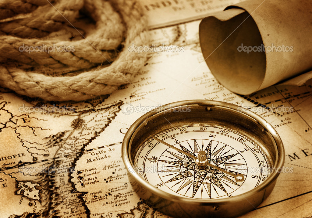 Vintage compass  Stock Photo #1295950