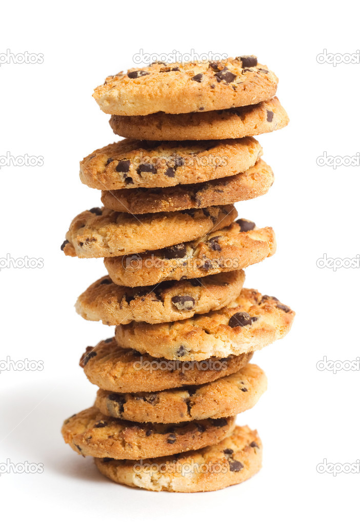 Chocolate chip cookies — Stok fotoğraf #1295970