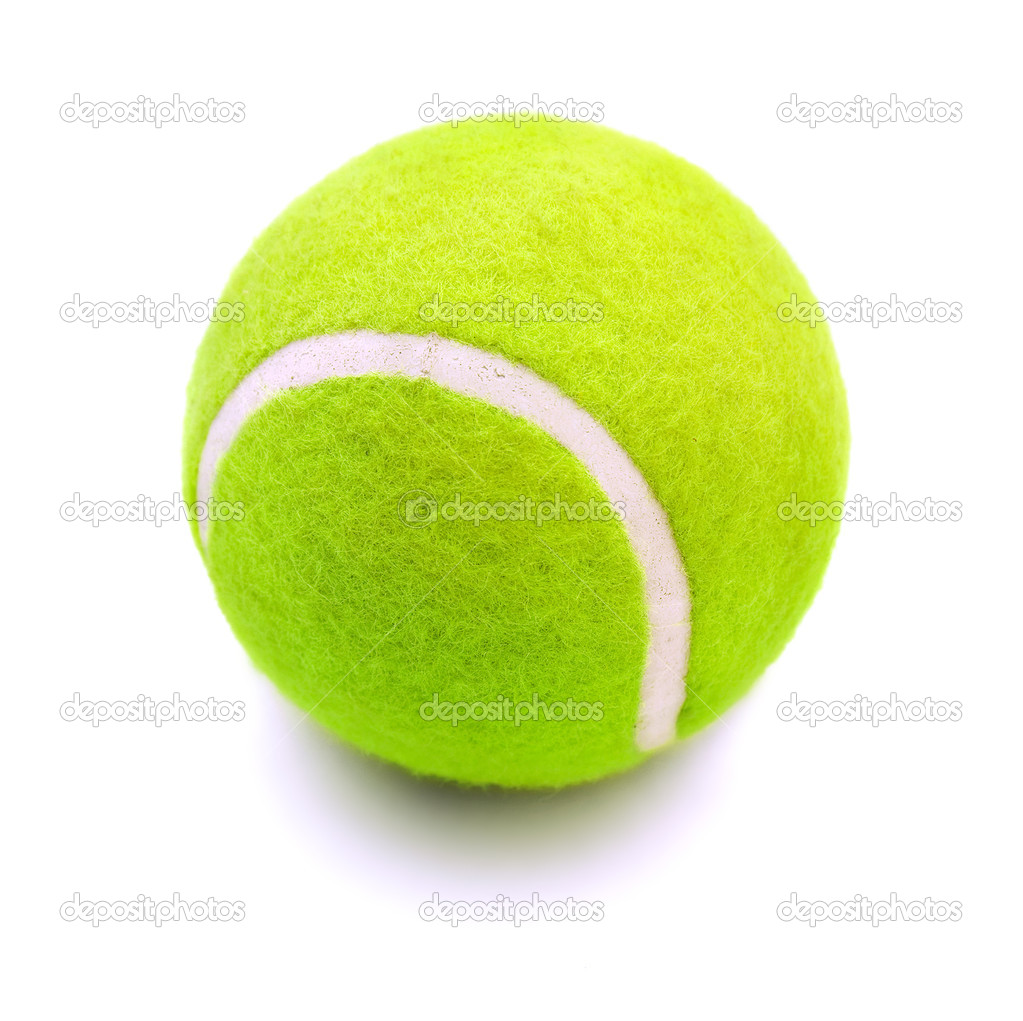 Tennis ball, isolated on white background  Stock Photo #1296042