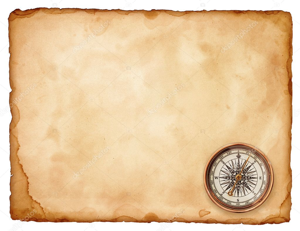 Vintage compass on old paper — Stock Photo #1298335