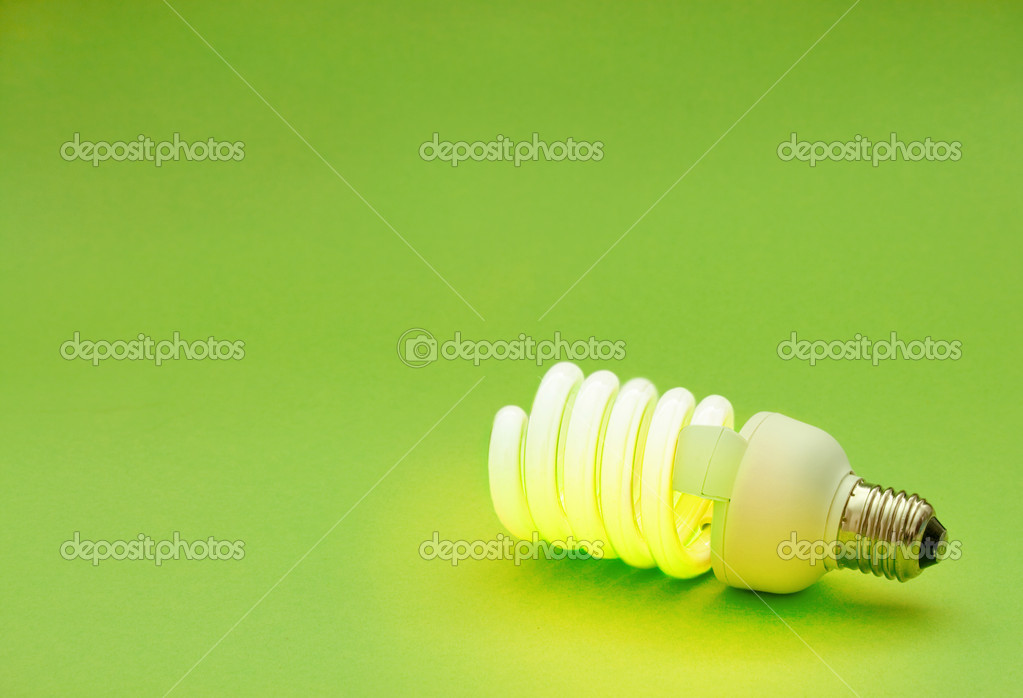 Energy saving lightbulb — Stock Photo #1298416