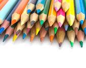 Vista ravvicinata delle matite colorate — Foto Stock