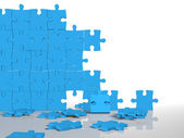 Jigsaw puzzle wall — Stock Photo