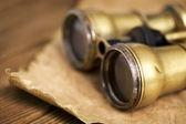 Antique binoculars — Stock Photo