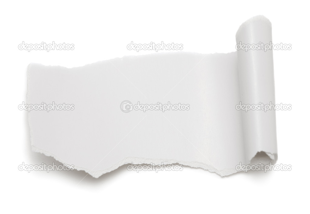 Piece of paper on white background — Stock Photo #1444308