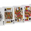 图库照片: Playing cards isolated - Royal Flush