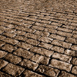 Sepia cobblestone — Stock Photo