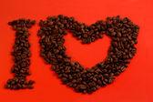 Eu amo café — Fotografia Stock