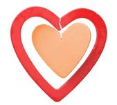 Red and orange hearts — Stock Photo
