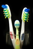All family tooth-brushes. — Stock Photo