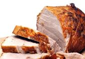 Cold baked pork — Stock Photo