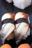Conger eel nigiri sushi — Stock Photo