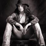 Cowboy girl — Stock Photo