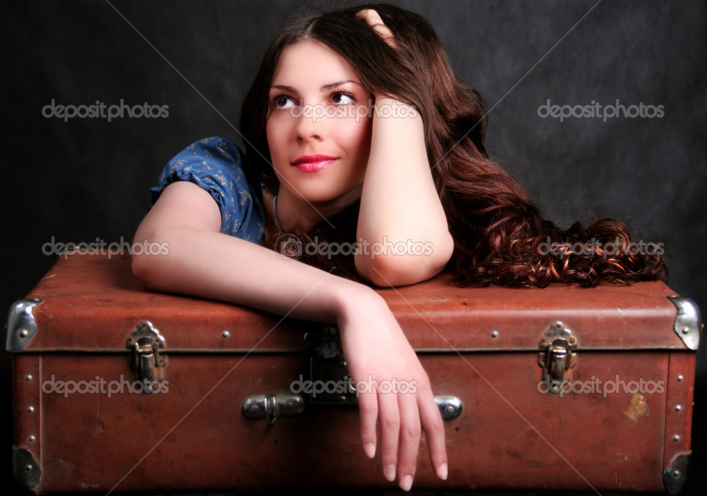 Beautiful girl dreaming of a holiday  — Stock Photo #1284390
