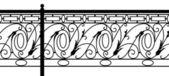 Ornamental fence. — Stock Vector