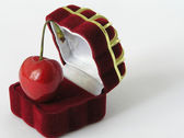 Box for a ring — 图库照片