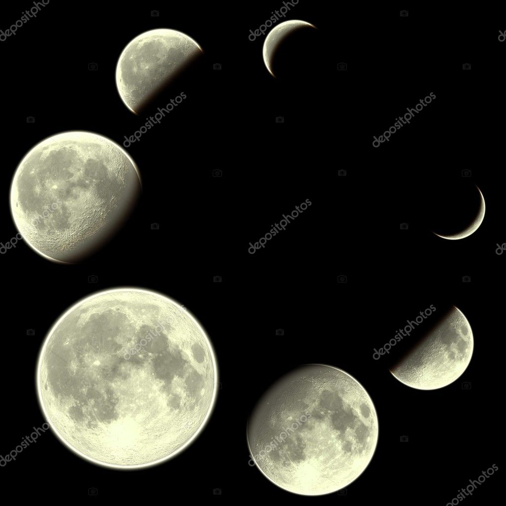 Moon calendar over black background — Stock Photo #2619408