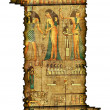 Old roll of egyptian papyrus — Stockfoto