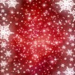 Winter holiday background with snowflake - Stock Photo