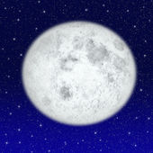 Beautiful full moon — Stock Photo