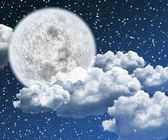 Beautiful moon night — Stock Photo