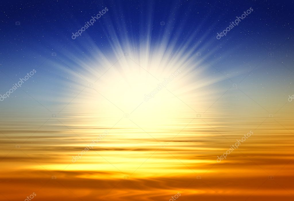 Beautiful golden sunrise — Stockfoto #1199950