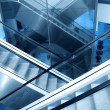 Stock Photo: Cross escalators