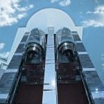 Elevators to sky — Stock Photo