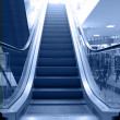 Escalator move up - Stock Photo
