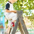 Little boy reach harvest — Stock Photo #1203298