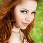 Redhead pretty girl — Stock Photo